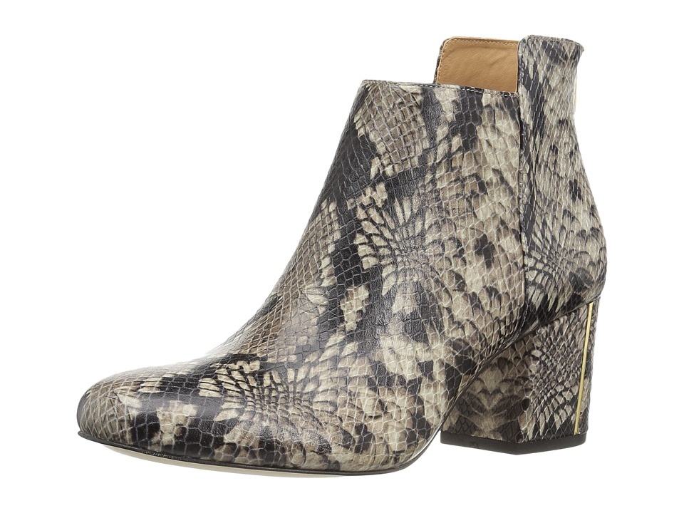 Calvin Klein - Lorah (Natural Snake Print Leather) Women's Dress Zip Boots