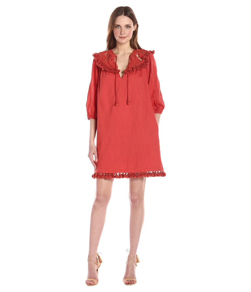Rachel Zoe Elise Dress (Burnt Coral) Women