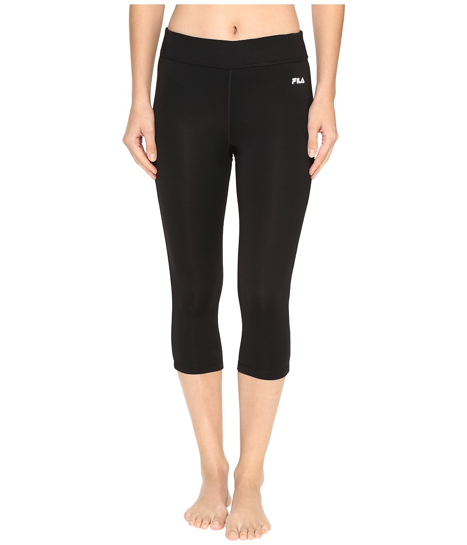 Fila - Energy Tight Capris (Black/Black) Women's Capri