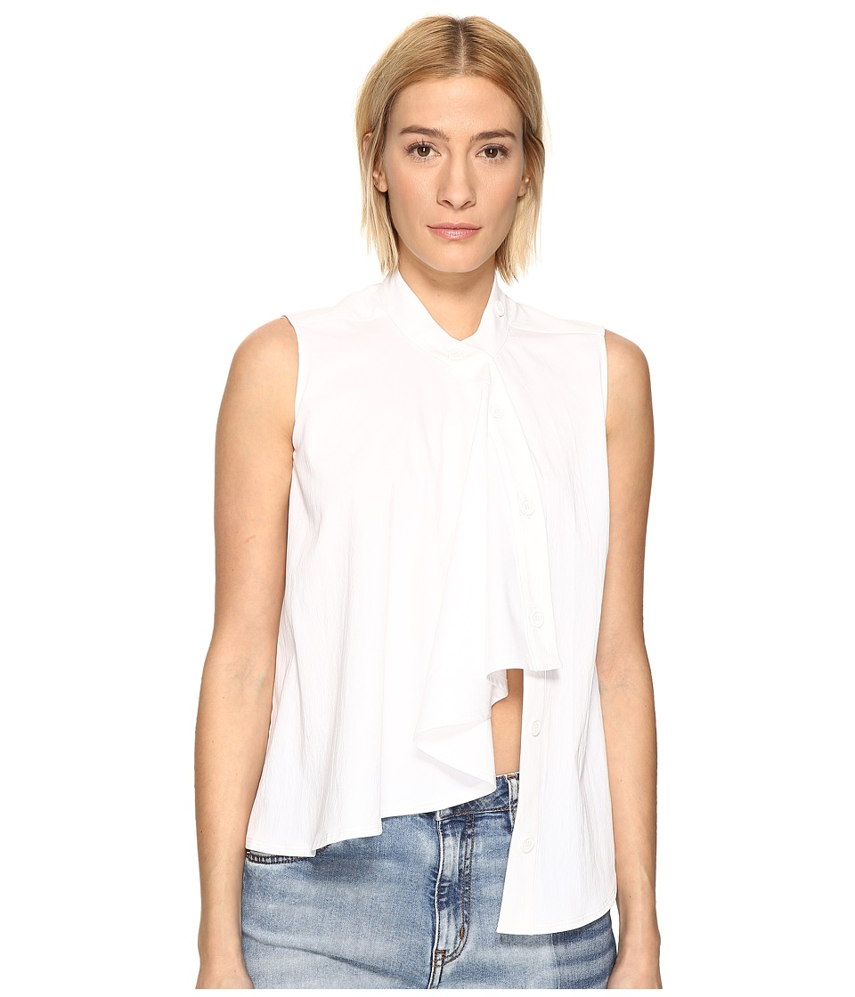 LOVE Moschino - Sleeveless Ruffle Top (White) Women's Sleeveless