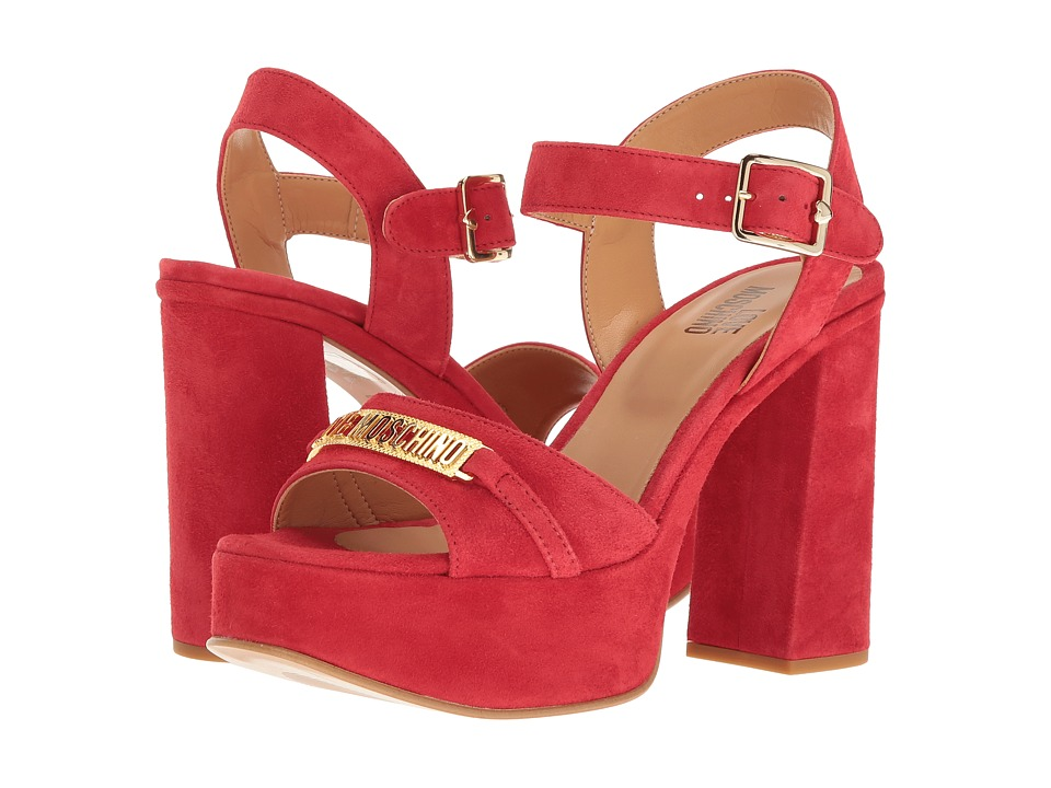 LOVE Moschino - Horse Bit Heel (Red) High Heels