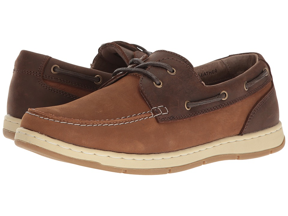 Nunn Bush Schooner Two-Eye Boat Shoe (Camel/Brown) Men
