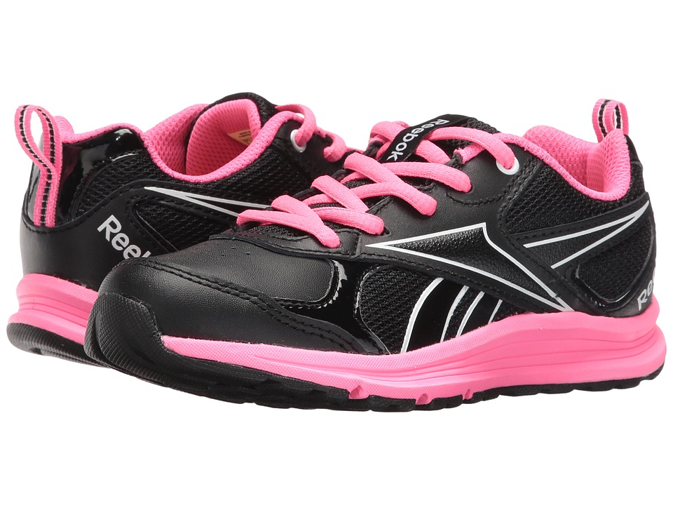 Reebok Kids - Almotio RS Brights (Little Kid/Big Kid) (Black/Poison Pink/White) Girl's Shoes
