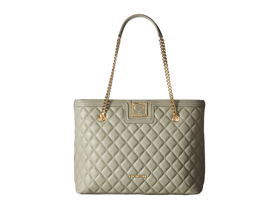 LOVE Moschino - Superquilted Large Tote (Gray) Tote Handbags