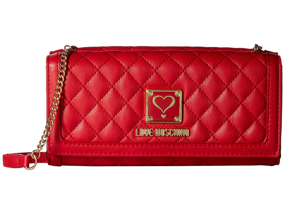 LOVE Moschino - Superquilted Small Crossbody (Red) Cross Body Handbags