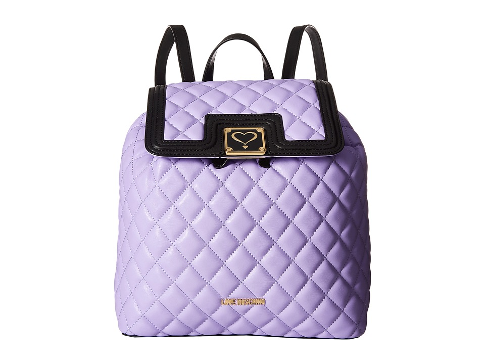 LOVE Moschino - Superquilted Fold-Over (Purple) Bags