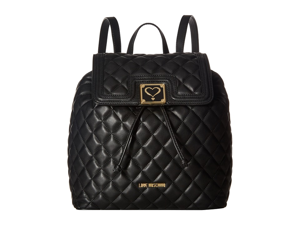 LOVE Moschino - Superquilted Fold-Over (Black) Bags