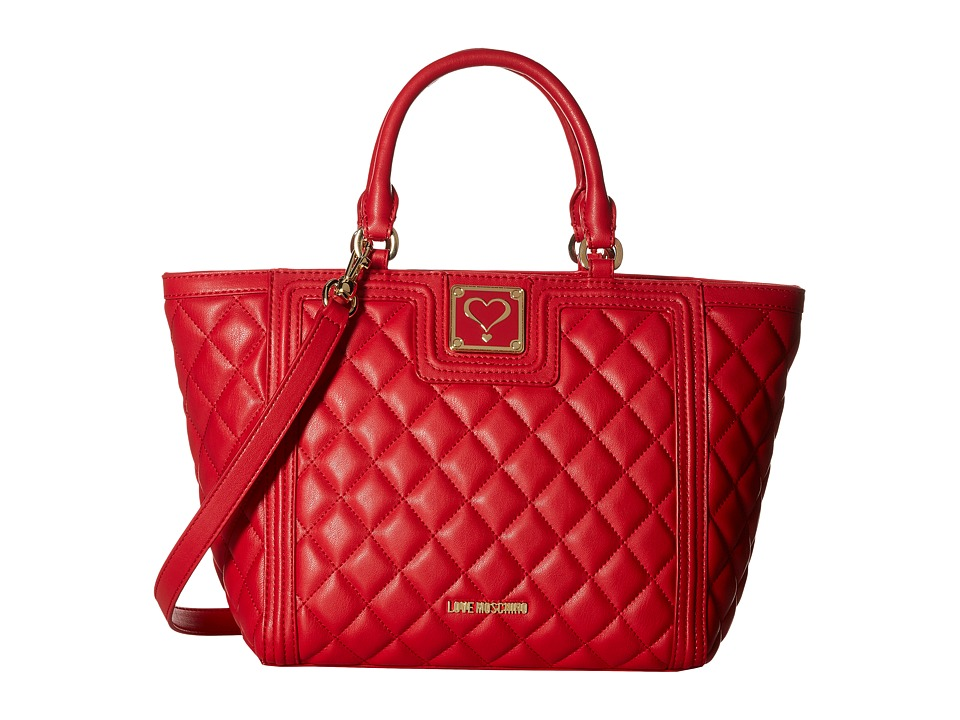 LOVE Moschino - Superquilted Small Tote (Red) Tote Handbags