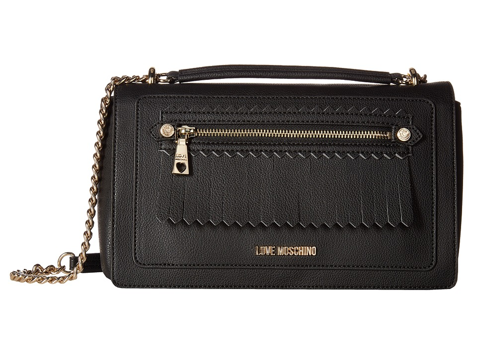 LOVE Moschino - Fringes Bag (Black) Bags