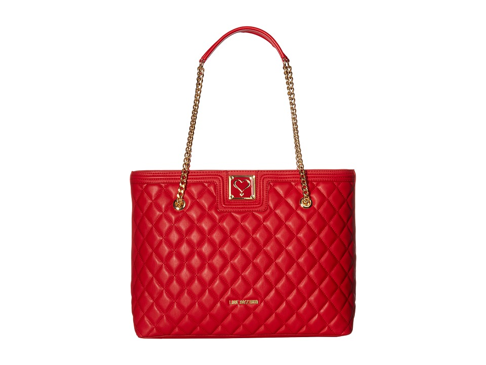 LOVE Moschino - Superquilted Large Tote (Red) Tote Handbags