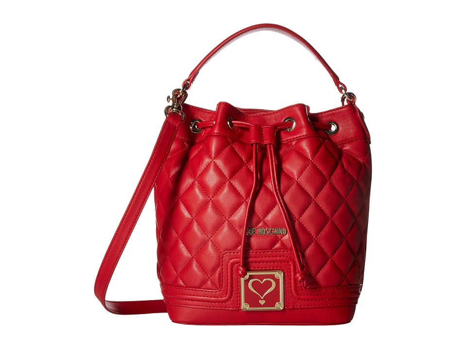 LOVE Moschino - Superquilted Bucket (Red) Handbags