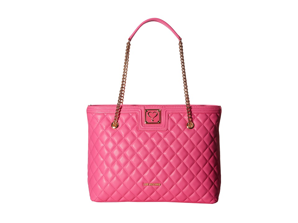 LOVE Moschino - Superquilted Large Tote (Pink) Tote Handbags