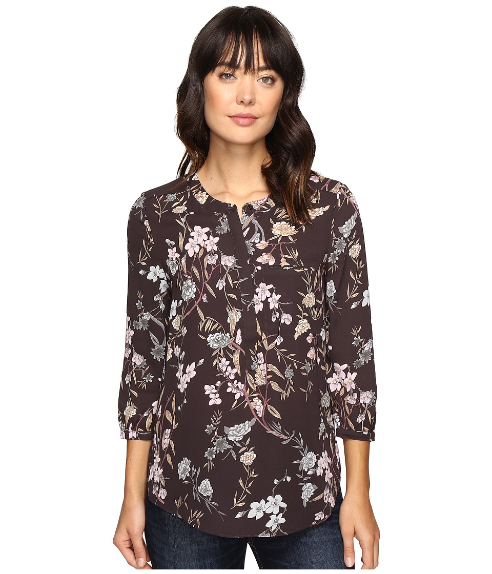 NYDJ - 3/4 Sleeve Pleat Back (Stockholm Meadow) Women's Blouse
