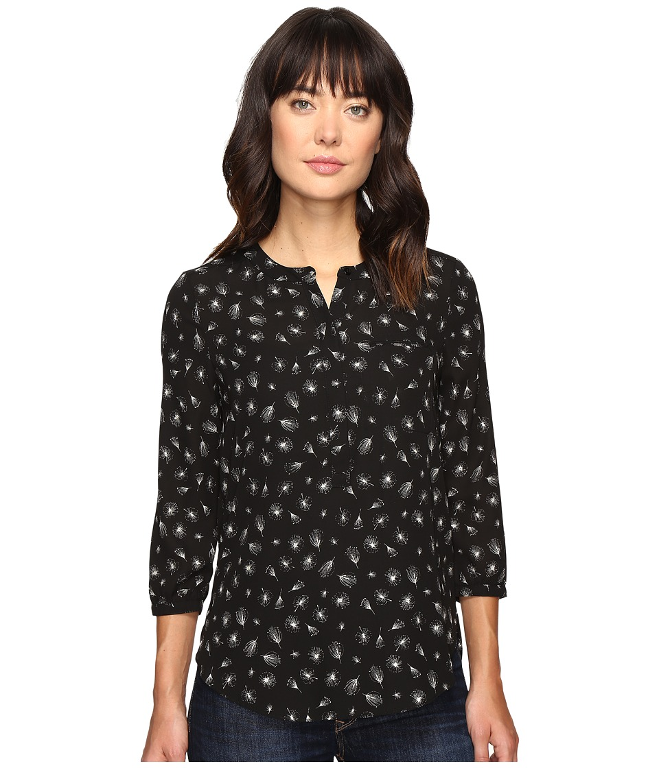 NYDJ - 3/4 Sleeve Pleat Back (Dandelion Glimmer) Women's Blouse