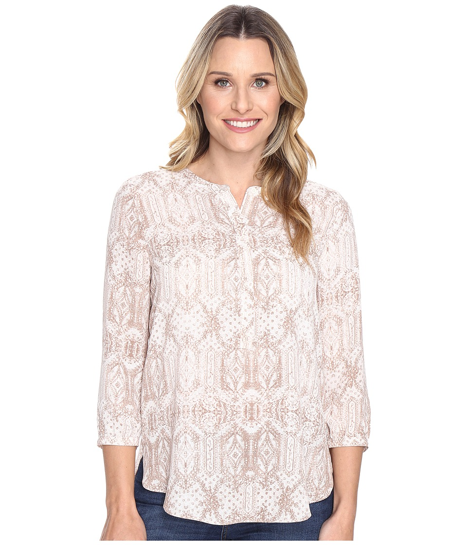 NYDJ - 3/4 Sleeve Pleat Back (Copehagen Lace) Women's Blouse
