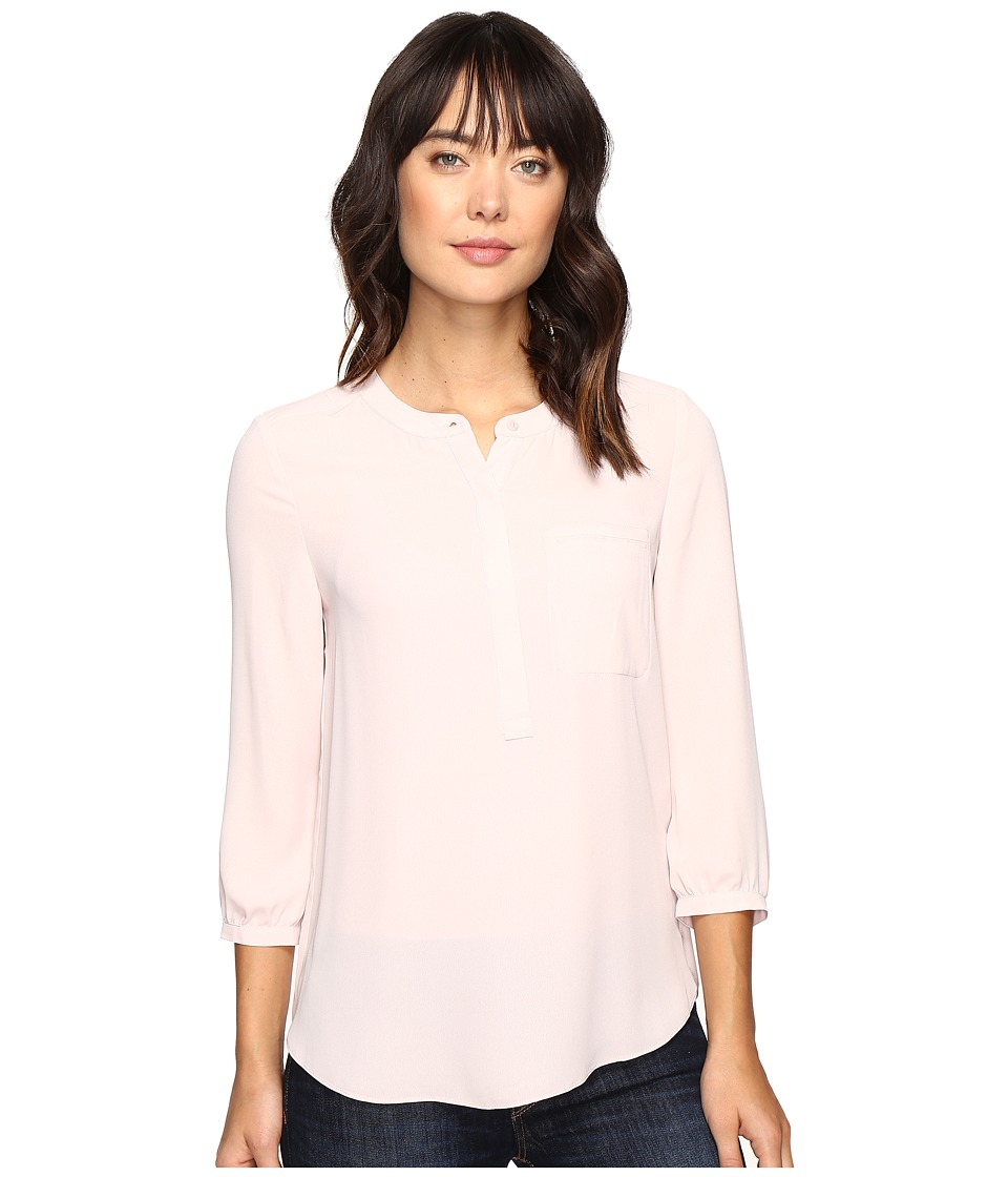 NYDJ - 3/4 Sleeve Pleat Back (Pink Cameo) Women's Blouse