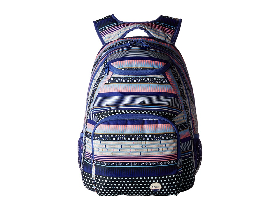 Roxy - Shadow Swell Printed Backpack (Dress Blues Small Wintery Geo) Backpack Bags