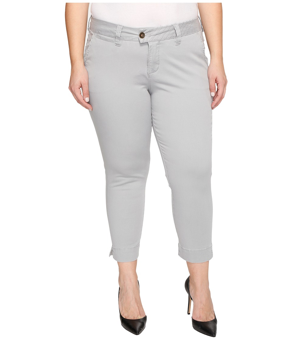 Jag Jeans Plus Size - Plus Size Creston Ankle Crop in Bay Twill (Shadow) Women's Casual Pants