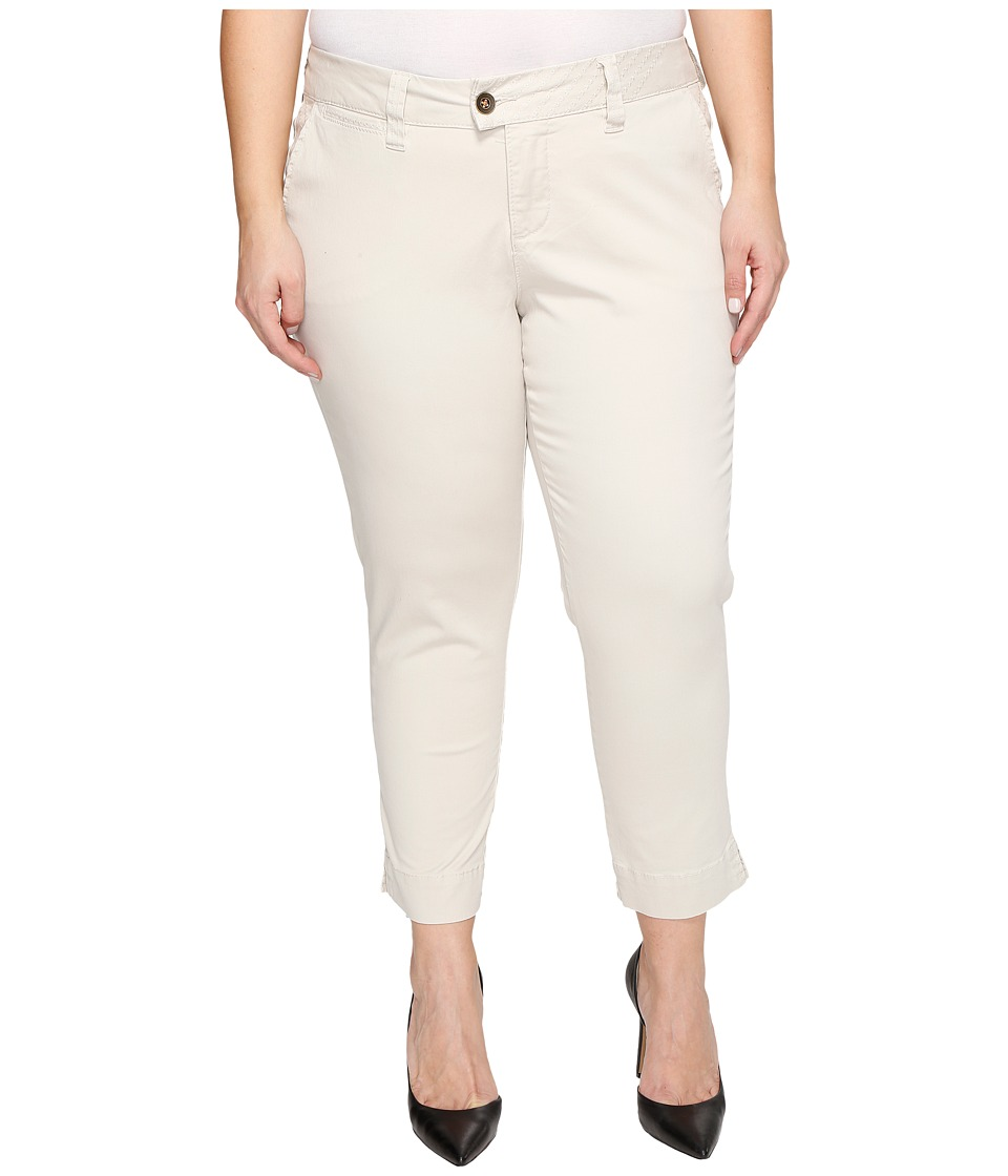 Jag Jeans Plus Size - Plus Size Creston Ankle Crop in Bay Twill (Stone) Women's Casual Pants