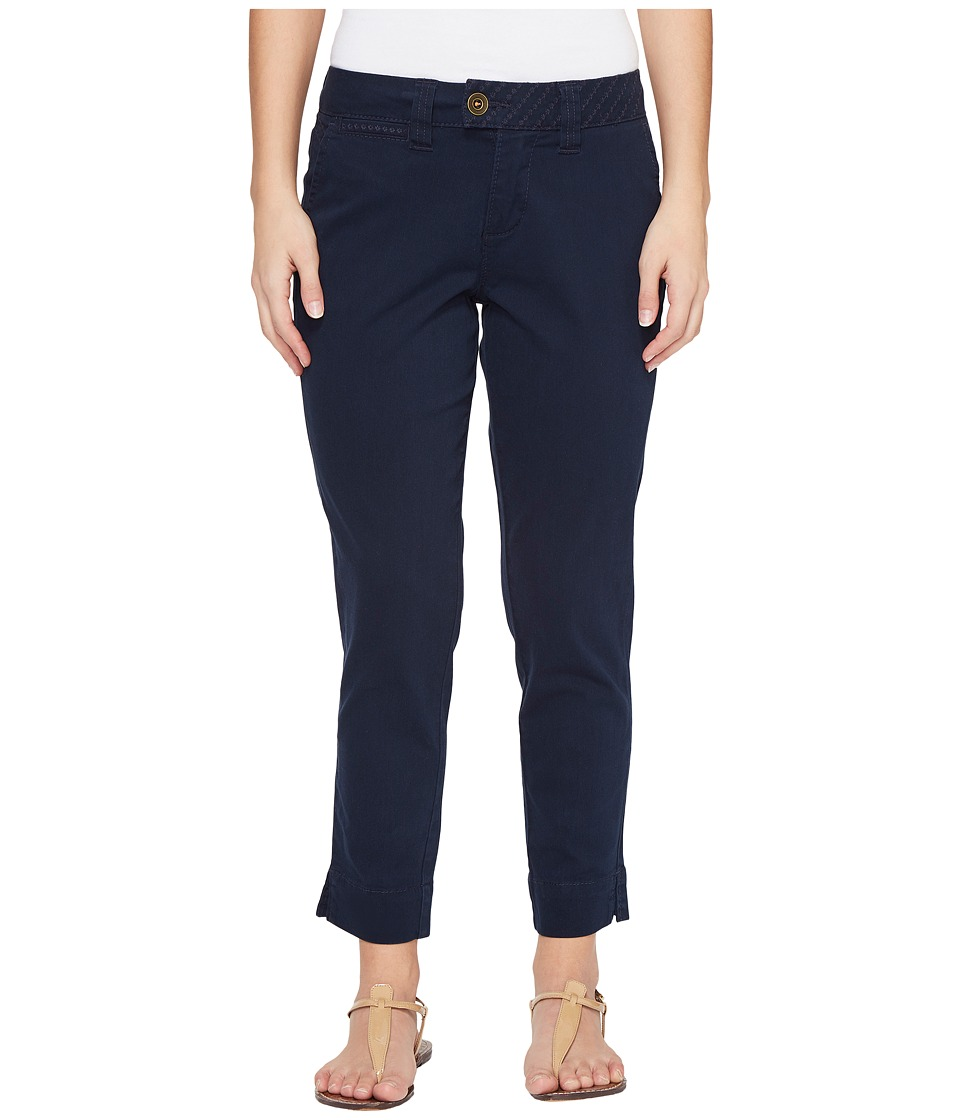 Jag Jeans Petite - Petite Creston Ankle Crop in Bay Twill (Nautical Navy) Women's Casual Pants