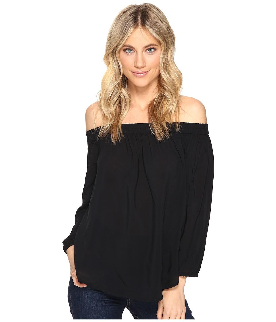 Splendid - Rayon Voile Off Shoulder Top (Black) Women's Clothing