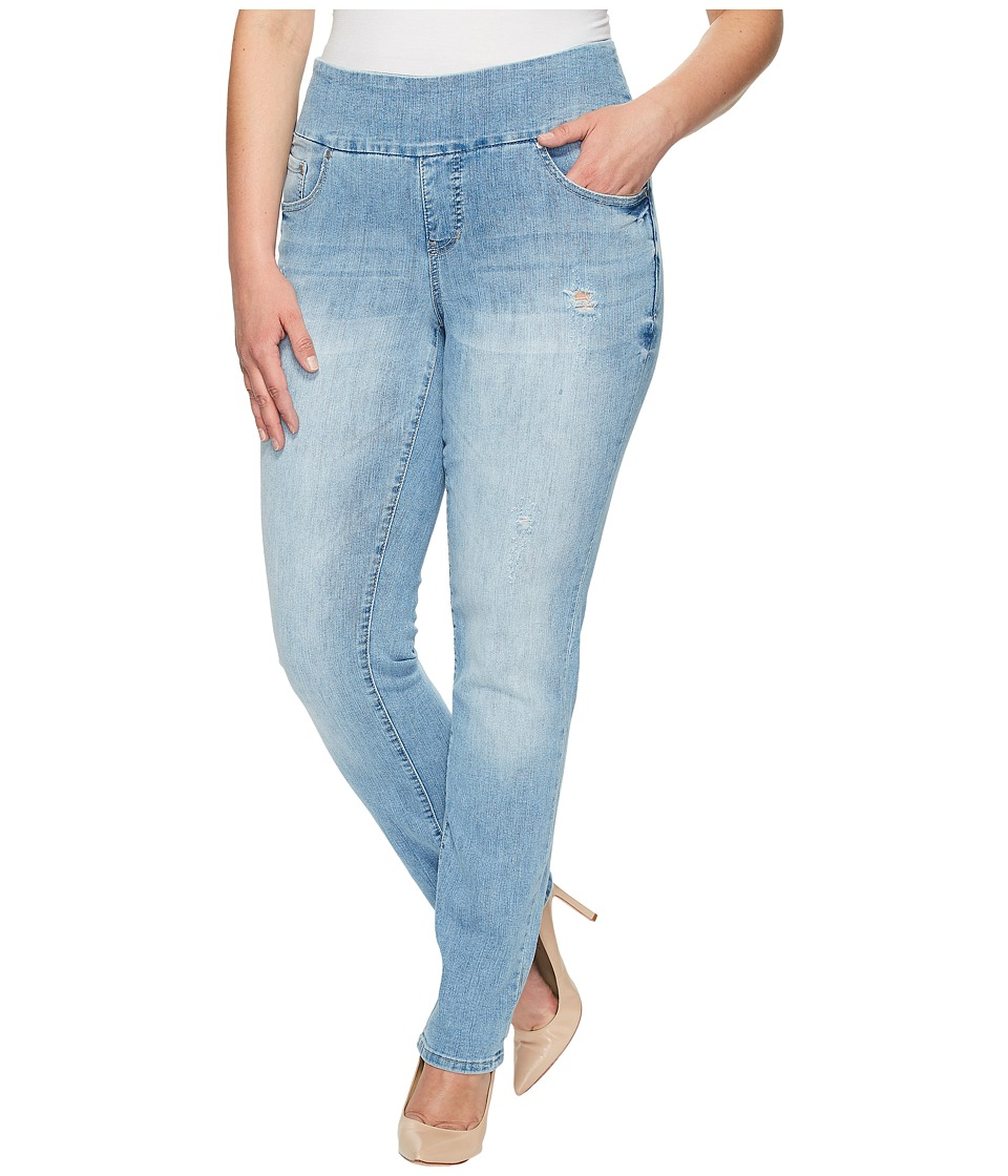 Jag Jeans Plus Size - Plus Size Peri Pull-On Straight Comfort Denim in Blue Issue (Blue Issue) Women's Jeans