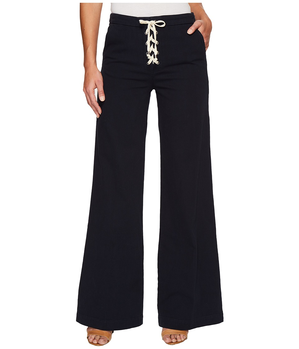 Splendid - Cotton Twill Lace-Up Pants (Navy) Women's Casual Pants