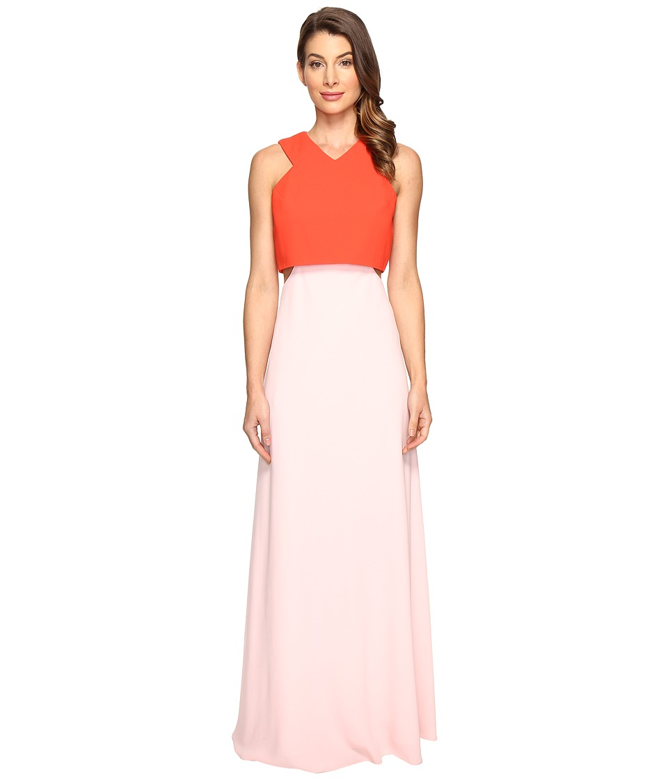JILL JILL STUART 2-Ply Crepe Popover Dress (Tangerine/Ballet Pink) Women