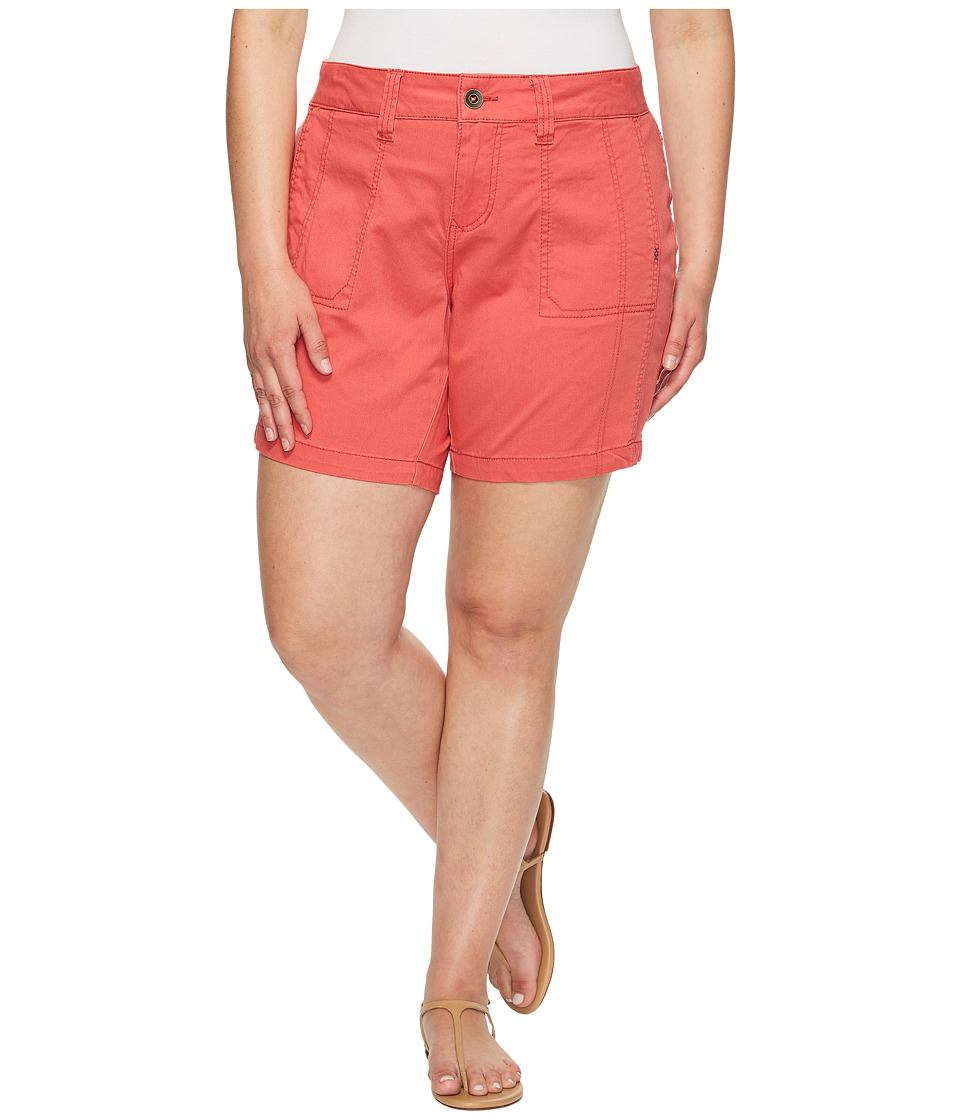 Jag Jeans Plus Size - Plus Size Somerset Relaxed Fit Shorts in Bay Twill (Coral Spice) Women's Shorts