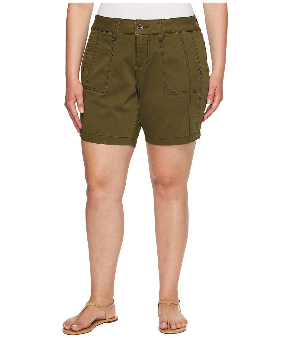 Jag Jeans Plus Size - Plus Size Somerset Relaxed Fit Shorts in Bay Twill (Hedge) Women's Shorts