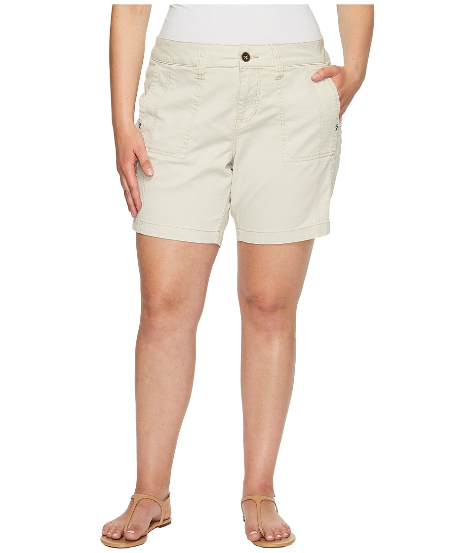 Jag Jeans Plus Size - Plus Size Somerset Relaxed Fit Shorts in Bay Twill (Stone) Women's Shorts