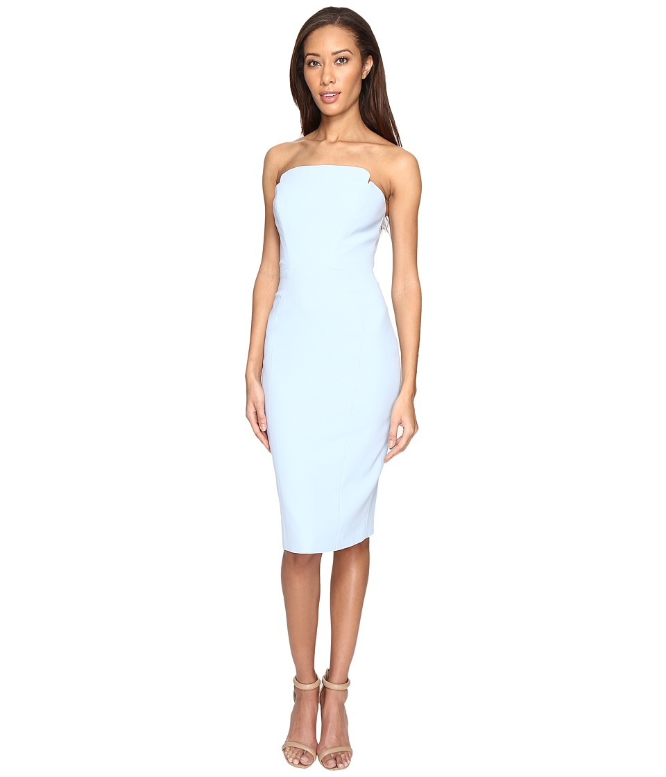 JILL JILL STUART - Strapless Knee Length Fitted Crepy Dress (Sky) Women's Dress