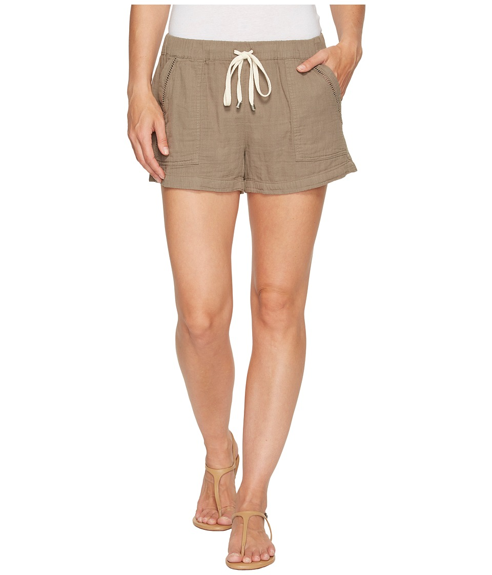 Splendid - Double Cloth Shorts (Military Olive) Women's Shorts
