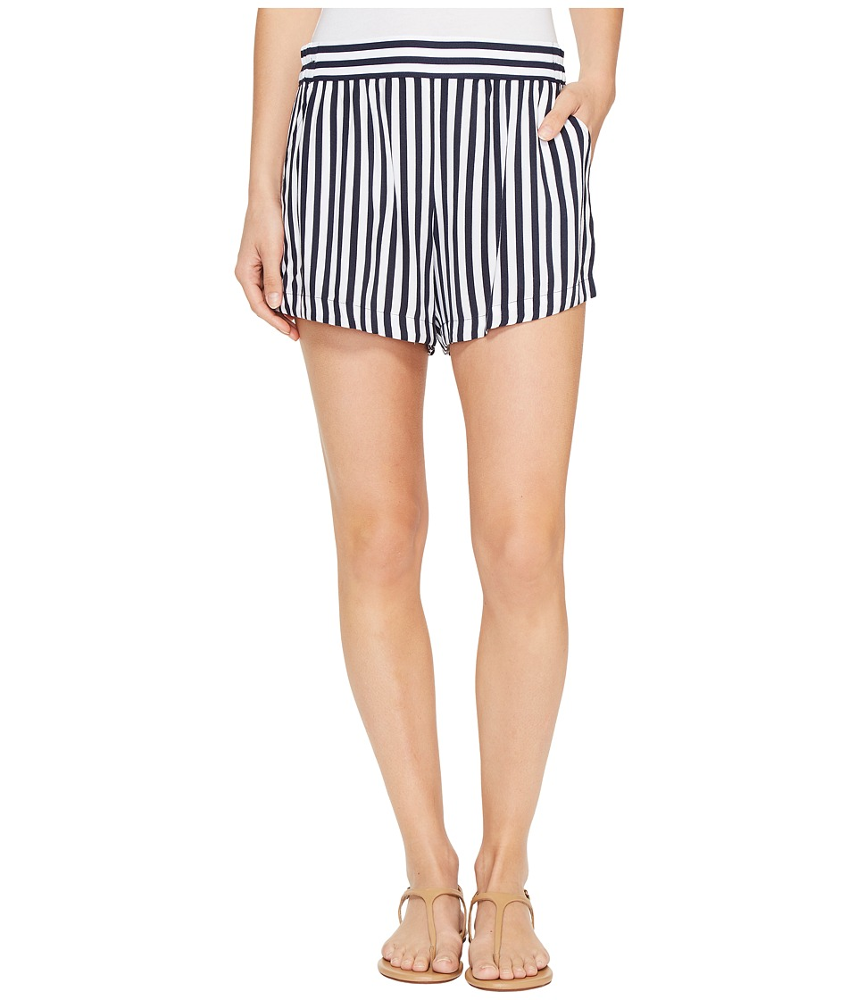 Splendid - Boardwalk Stripe Shorts (Navy) Women's Shorts