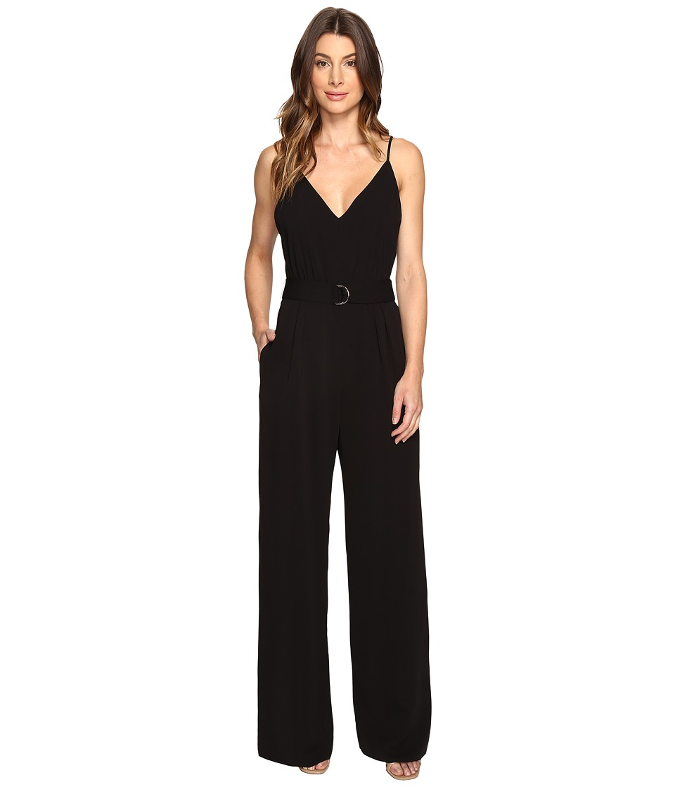 JILL JILL STUART - 2-Ply D-Ring Jumpsuit (Black) Women's Jumpsuit & Rompers One Piece