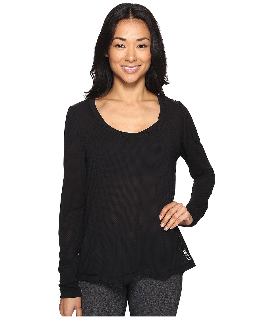 Lorna Jane - Premonition Long Sleeve Excel Top (Black) Women's Clothing