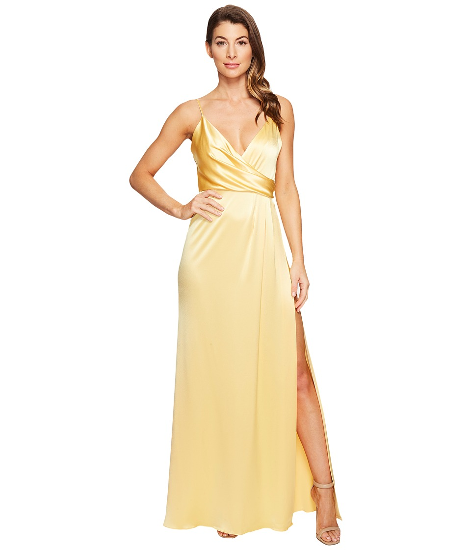 JILL JILL STUART - Satin Back Crepe Slip Dress (Buttercup) Women's Dress