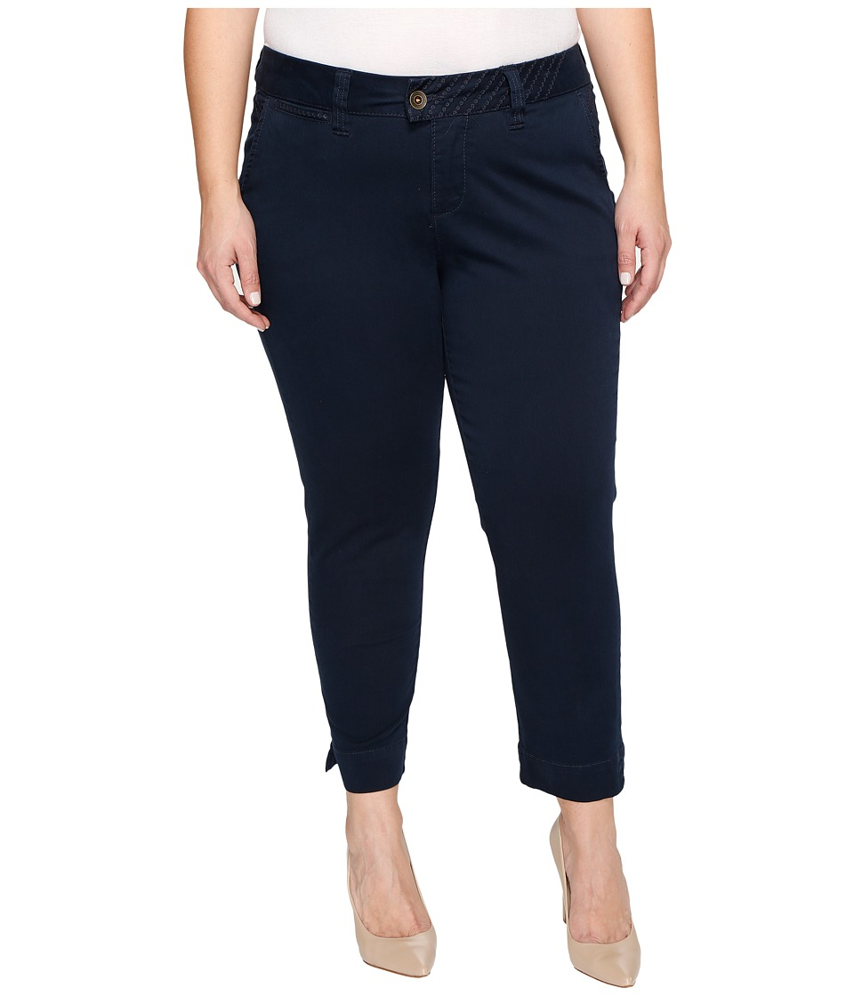 Jag Jeans Plus Size - Plus Size Creston Ankle Crop in Bay Twill (Nautical Navy) Women's Casual Pants