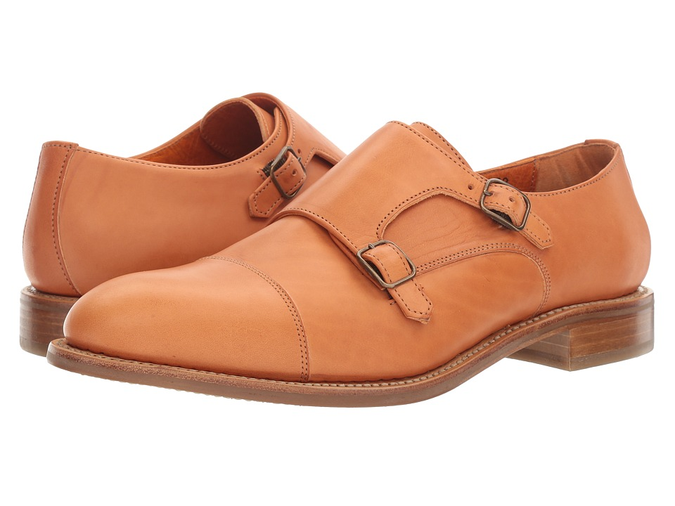 Crosby Square Brady Tan Horween Mens Slip on Shoes