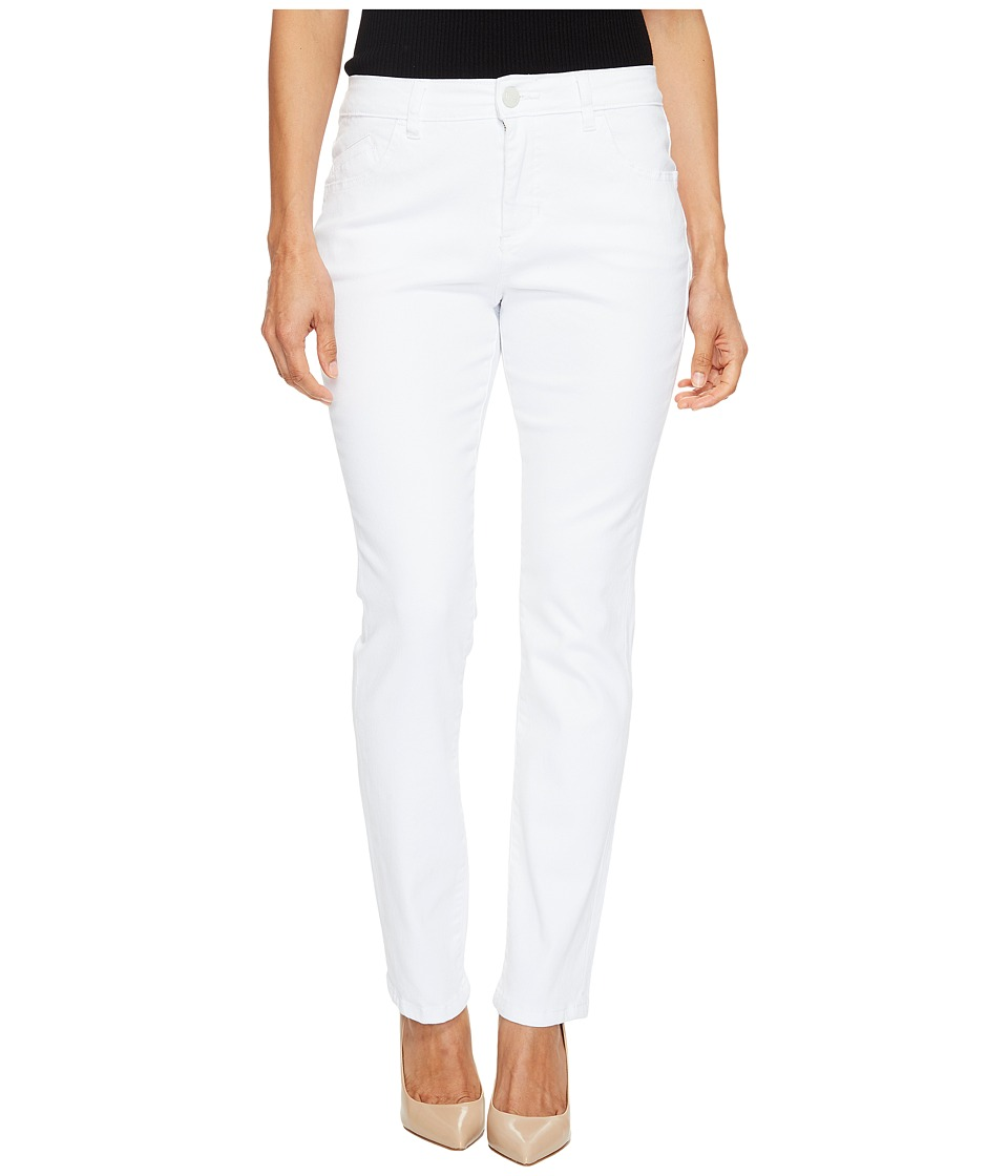 Jag Jeans Petite - Petite Portia Straight in White Denim (White) Women's Jeans