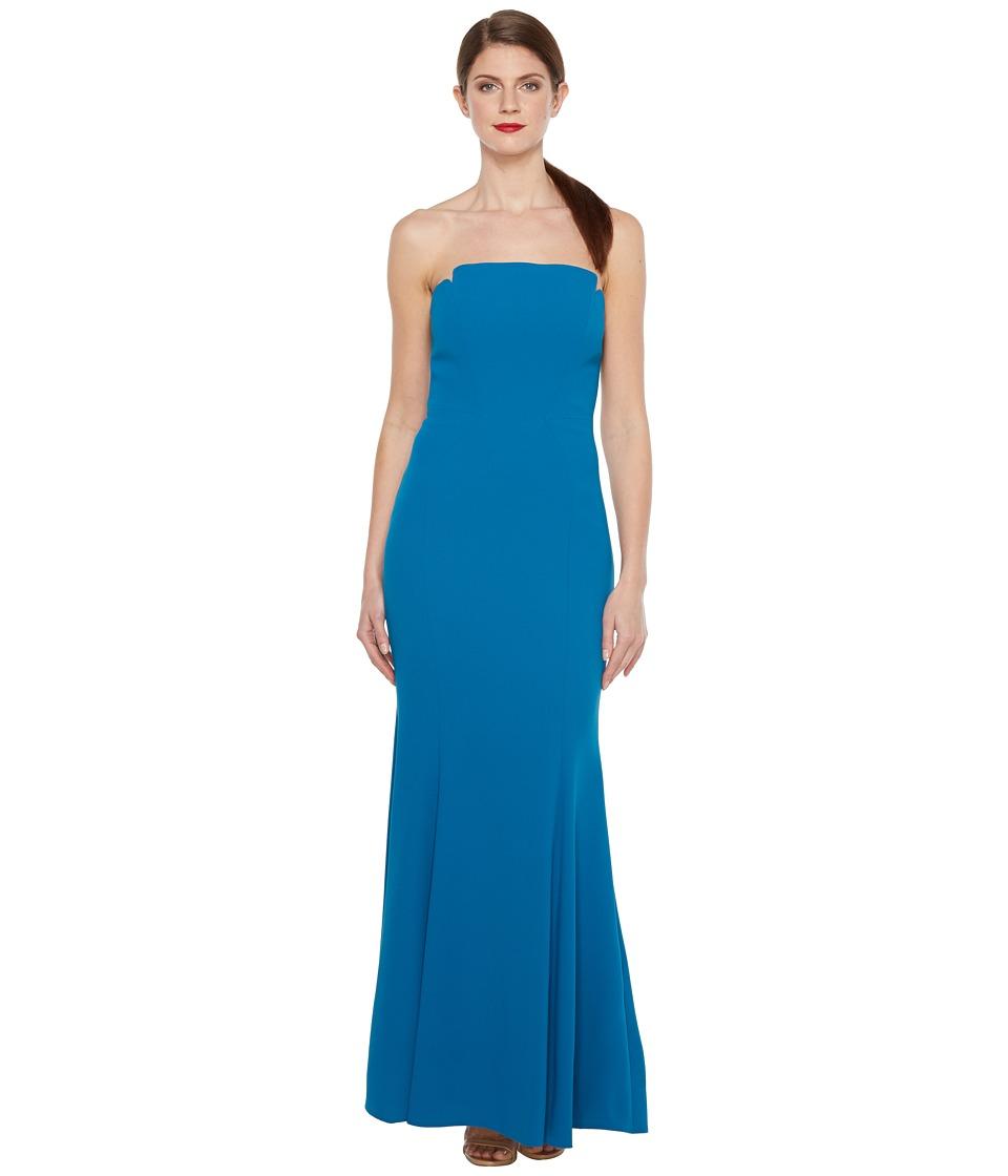 JILL JILL STUART - Harlow Strapless Hourglass Gown (Lapis) Women's Dress