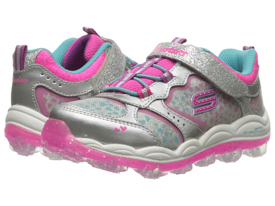 SKECHERS KIDS - Skech Air - Stardust (Toddler) (Silver/Multi) Girl's Shoes