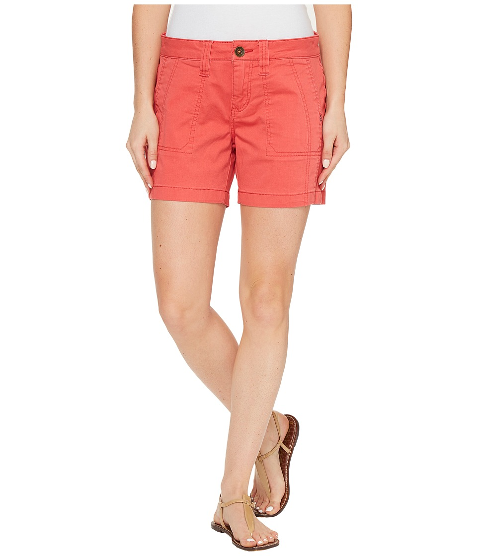 Jag Jeans Petite - Petite Somerset Relaxed Fit Shorts in Bay Twill (Coral Spice) Women's Shorts