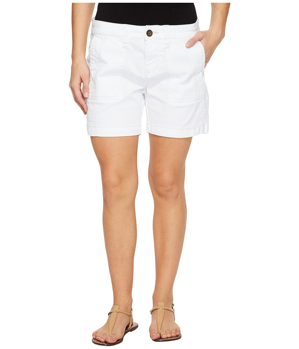 Jag Jeans Petite - Petite Somerset Relaxed Fit Shorts in Bay Twill (White) Women's Shorts