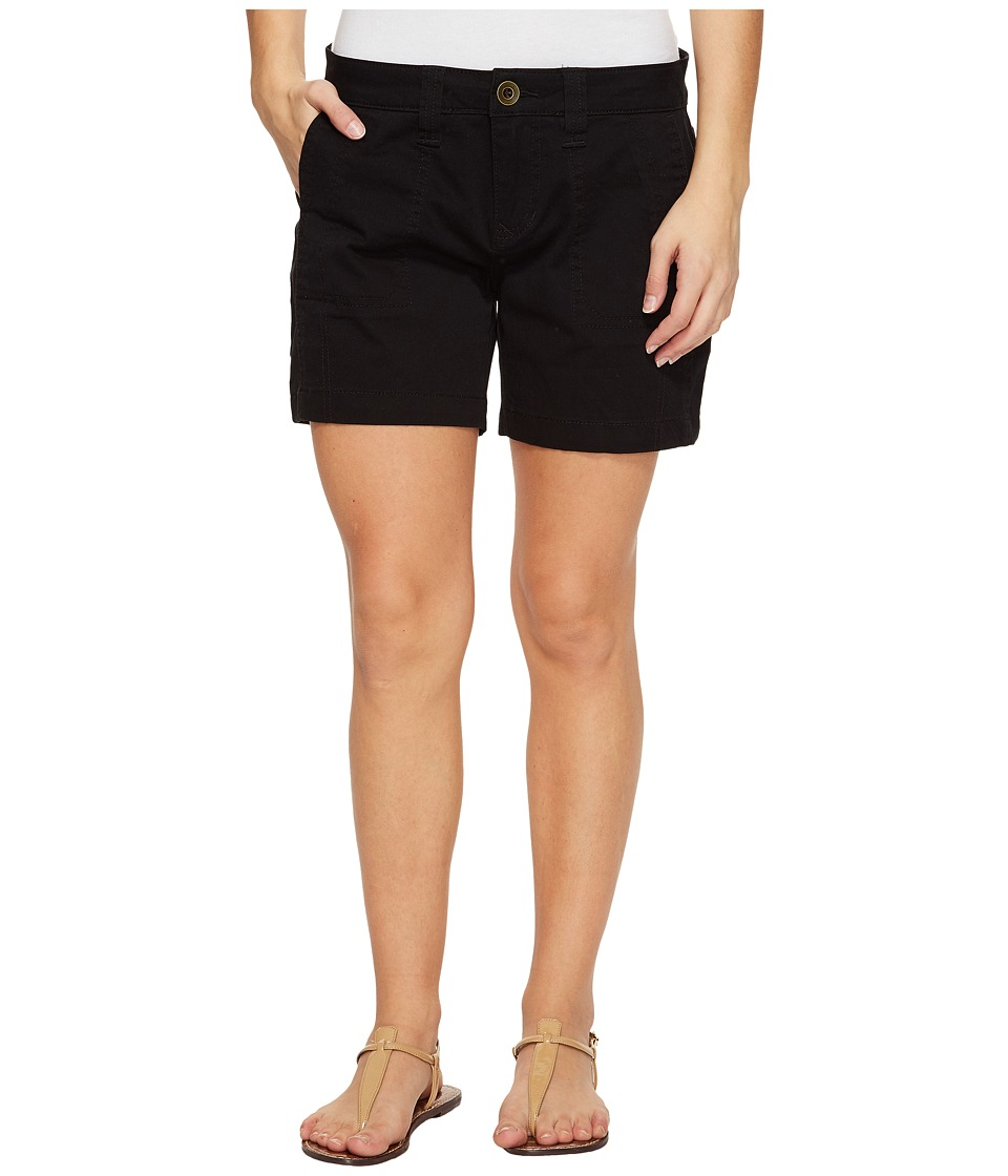 Jag Jeans Petite - Petite Somerset Relaxed Fit Shorts in Bay Twill (Black) Women's Shorts
