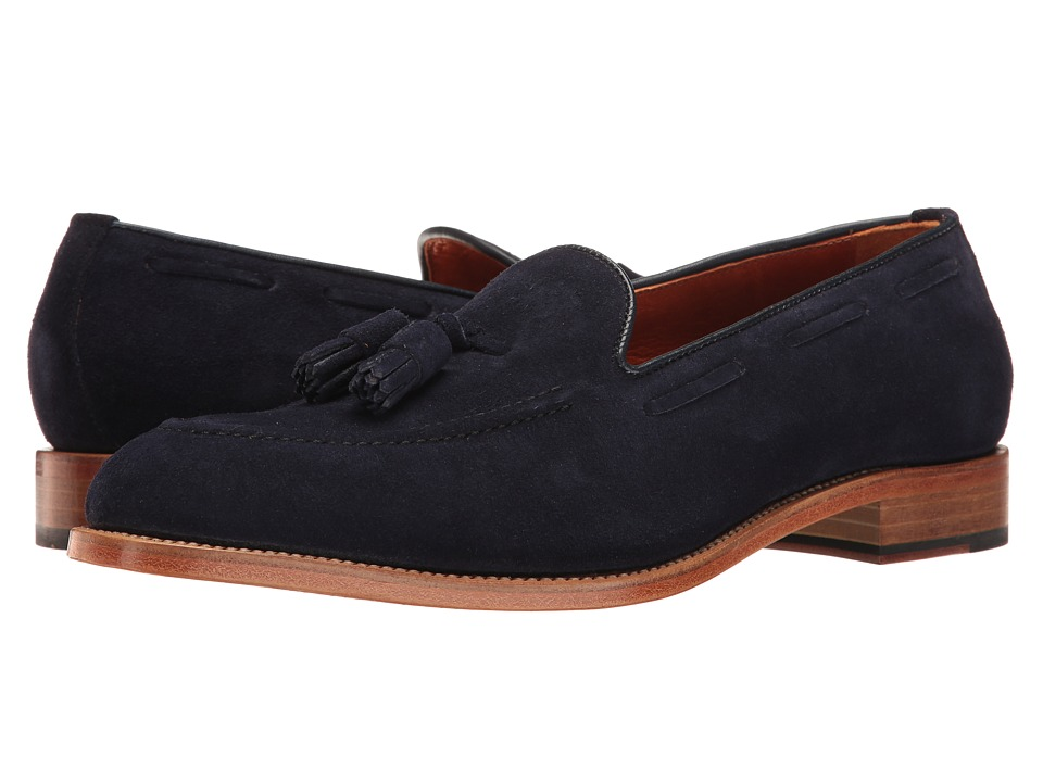 Crosby Square - Ainsley (Navy CF Stead Suede) Men's Slip on Shoes