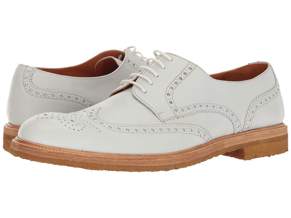 Crosby Square - Emerson (White) Men's Lace Up Wing Tip Shoes