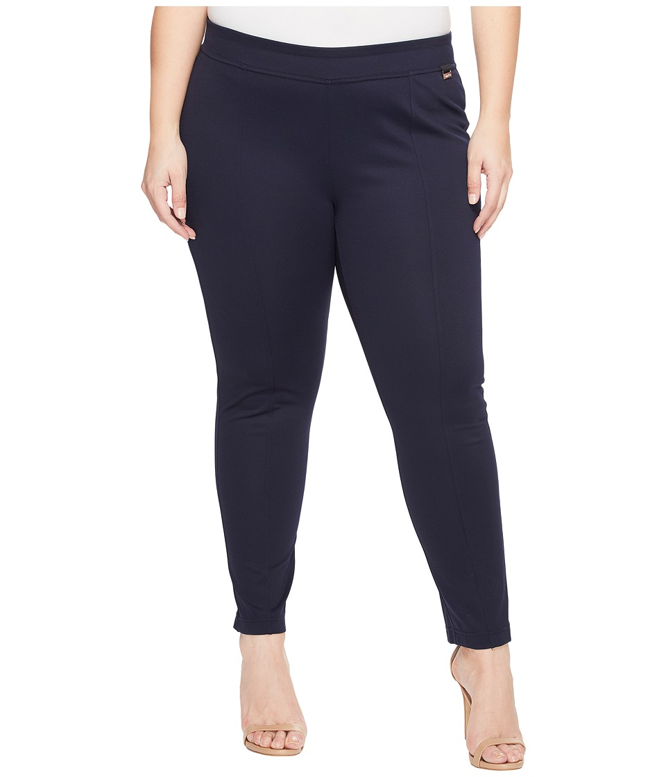 Calvin Klein Plus - Plus Size Seamed Pull-On Pant (Indigo) Women's Casual Pants