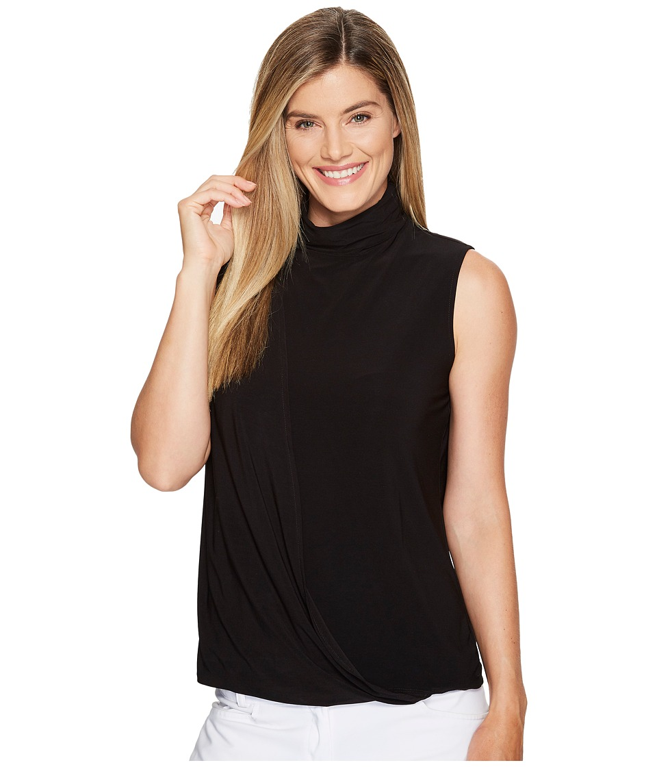 Jamie Sadock - High Neck Sleeveless Top (Jet Black) Women's Sleeveless