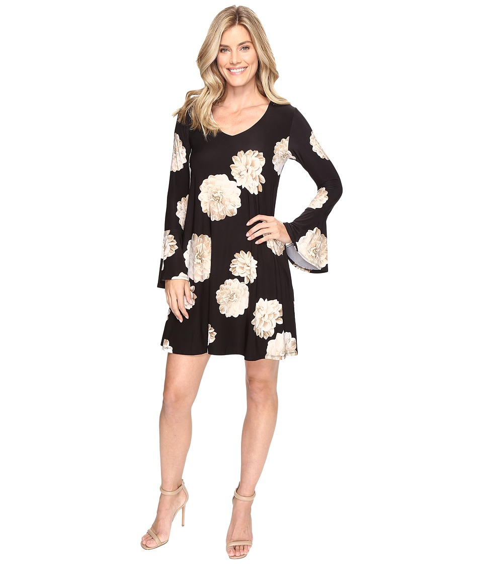 Karen Kane Flare Sleeve Taylor Dress (Floral) Women